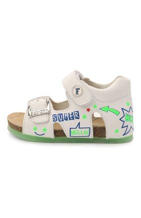 Детские кожаные сандалии FALCOTTO белого цвета, арт. 0011500881/01 | Фото 2