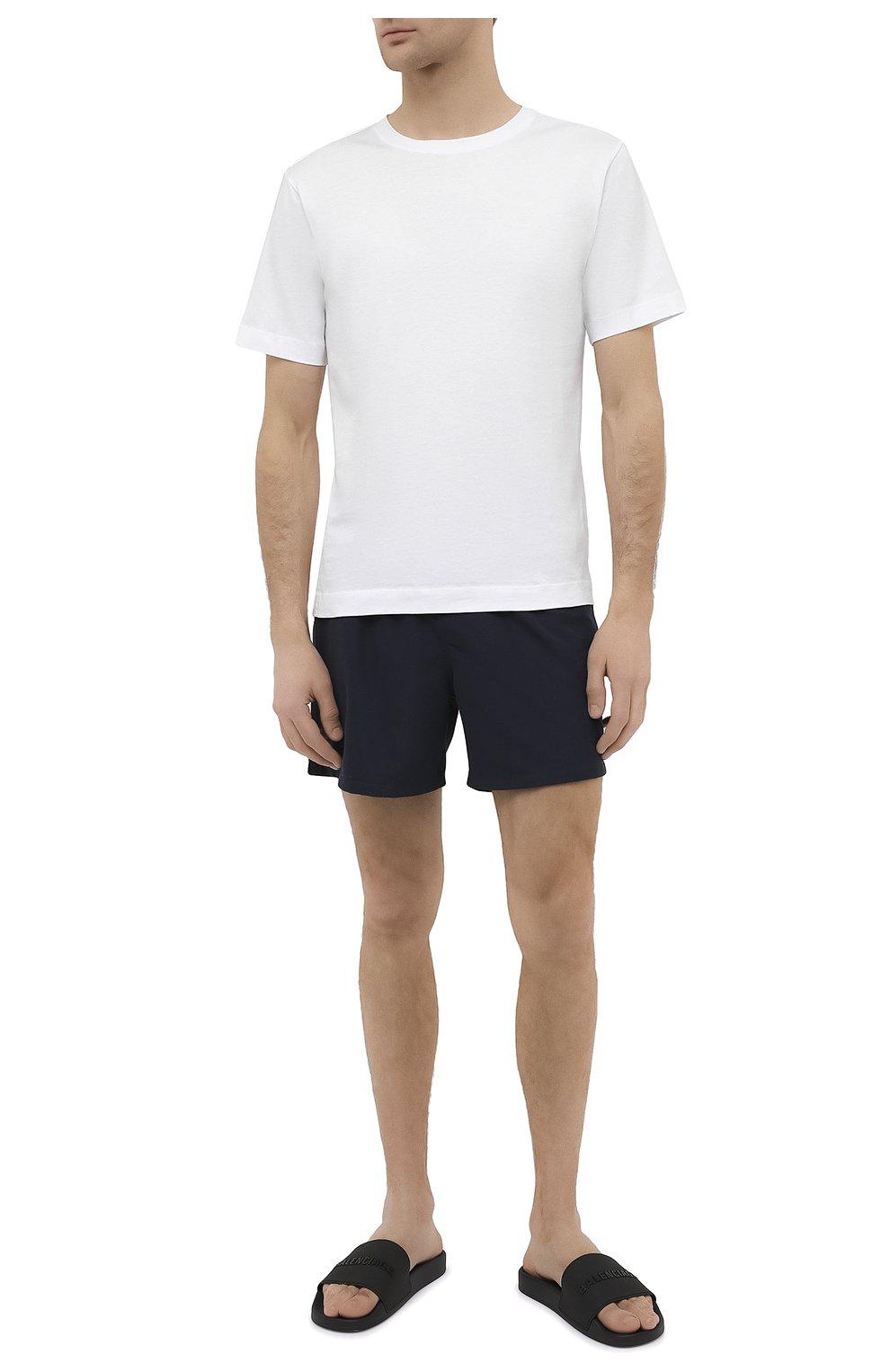 Мужские резиновые шлепанцы BALENCIAGA черного цвета, арт. 565826/W1S84 | Фото 2 (Материал внутренний: Текстиль; Материал внешний: Резина)