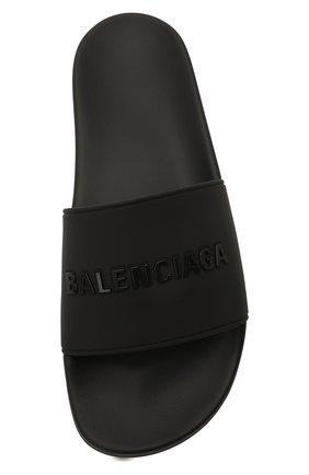 Мужские резиновые шлепанцы BALENCIAGA черного цвета, арт. 565826/W1S84 | Фото 5 (Материал внутренний: Текстиль; Материал внешний: Резина)