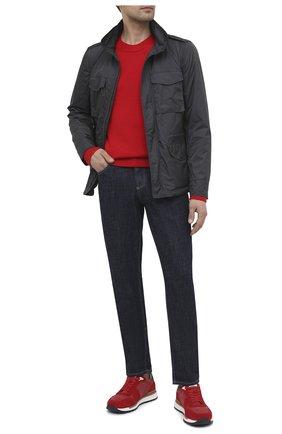 Мужские комбинированные кроссовки BOGNER красного цвета, арт. 12120741/NEW LIVIGN0 1 B | Фото 2 (Материал внешний: Текстиль; Материал внутренний: Натуральная кожа; Подошва: Массивная; Стили: Спорт)