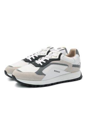 Мужские комбинированные кроссовки BOGNER белого цвета, арт. 12120645/MICHIGAN 1   Фото 1