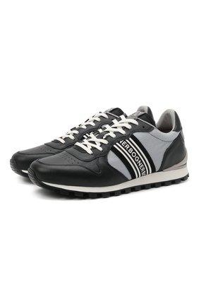 Мужские комбинированные кроссовки BOGNER серого цвета, арт. 12120435/P0RT0 15 B | Фото 1 (Материал внешний: Текстиль; Подошва: Массивная; Материал внутренний: Текстиль; Стили: Спорт)