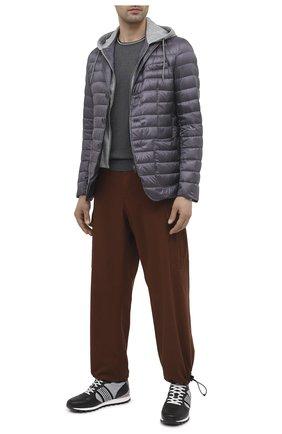 Мужские комбинированные кроссовки BOGNER серого цвета, арт. 12120435/P0RT0 15 B | Фото 2 (Материал внешний: Текстиль; Подошва: Массивная; Материал внутренний: Текстиль; Стили: Спорт)