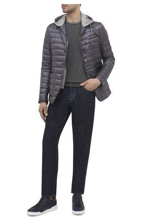Мужские кожаные кеды BOGNER темно-синего цвета, арт. 12120301/KENT 1 | Фото 2 (Материал внутренний: Натуральная кожа; Подошва: Массивная)