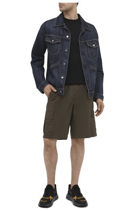 Мужские хлопковые шорты PREMIUM MOOD DENIM SUPERIOR хаки цвета, арт. S21 04176S/JH0N/S | Фото 2