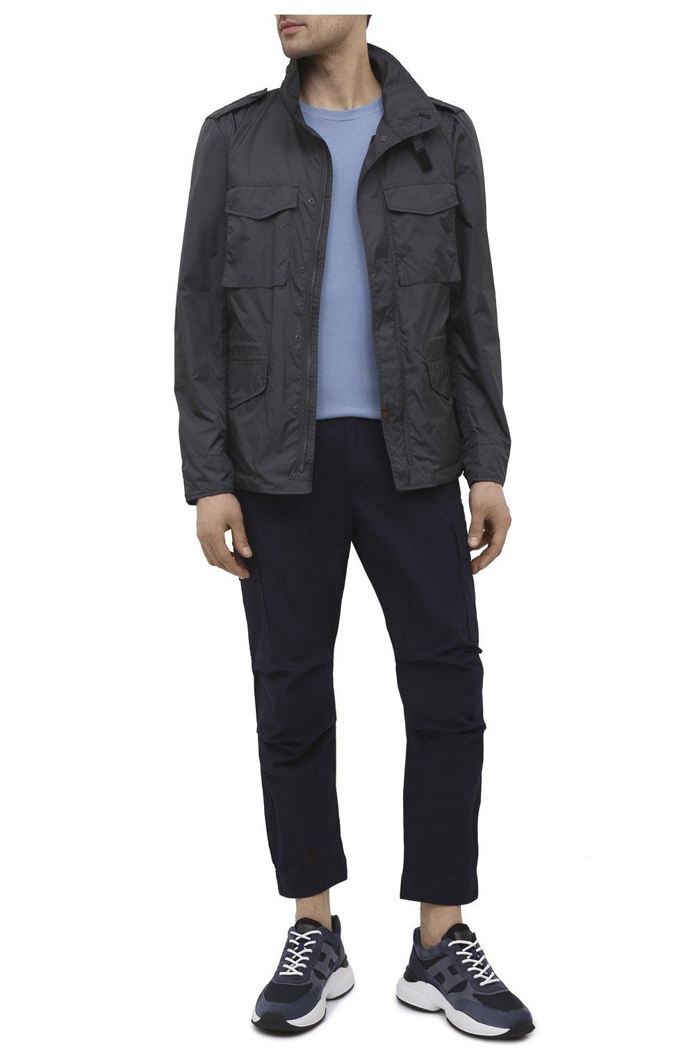 Мужские хлопковые брюки-карго PREMIUM MOOD DENIM SUPERIOR темно-синего цвета, арт. S21 04177524/MIK | Фото 2 (Силуэт М (брюки): Карго; Случай: Повседневный; Стили: Гранж; Материал внешний: Хлопок; Длина (брюки, джинсы): Укороченные)