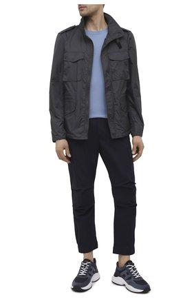 Мужские хлопковые брюки-карго PREMIUM MOOD DENIM SUPERIOR темно-синего цвета, арт. S21 04177524/MIK | Фото 2