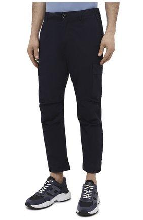 Мужские хлопковые брюки-карго PREMIUM MOOD DENIM SUPERIOR темно-синего цвета, арт. S21 04177524/MIK | Фото 3 (Силуэт М (брюки): Карго; Случай: Повседневный; Стили: Гранж; Материал внешний: Хлопок; Длина (брюки, джинсы): Укороченные)