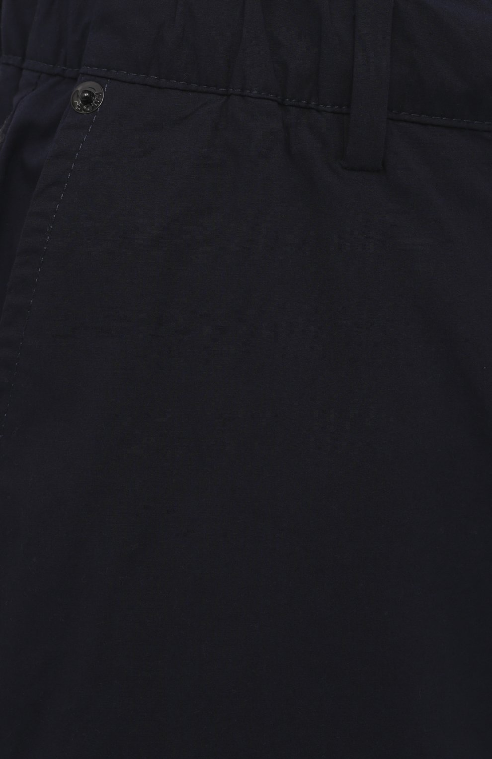 Мужские хлопковые брюки-карго PREMIUM MOOD DENIM SUPERIOR темно-синего цвета, арт. S21 04177524/MIK | Фото 5 (Силуэт М (брюки): Карго; Случай: Повседневный; Стили: Гранж; Материал внешний: Хлопок; Длина (брюки, джинсы): Укороченные)