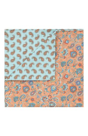 Мужской хлопковый платок ETON оранжевого цвета, арт. A000 33034   Фото 1 (Материал: Хлопок, Текстиль)