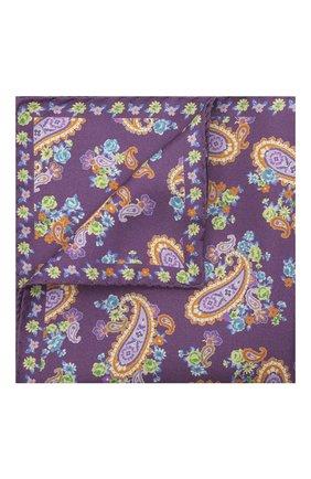 Мужской шелковый платок ETON фиолетового цвета, арт. A000 33028 | Фото 1