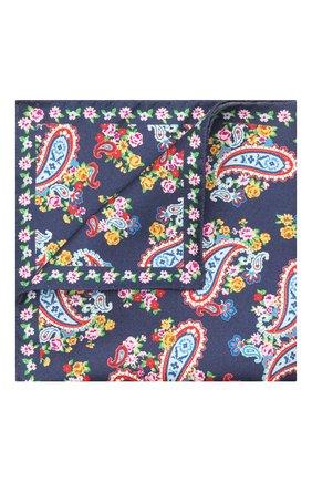 Мужской шелковый платок ETON синего цвета, арт. A000 33028   Фото 1