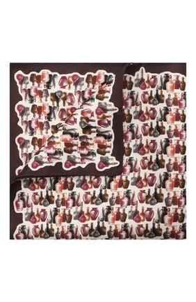 Мужской шелковый платок ETON коричневого цвета, арт. A000 33016 | Фото 1 (Материал: Текстиль, Шелк)