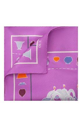 Мужской шелковый платок ETON сиреневого цвета, арт. A000 32950 | Фото 1
