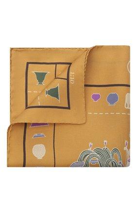 Мужской шелковый платок ETON оранжевого цвета, арт. A000 32950   Фото 1 (Материал: Шелк, Текстиль)