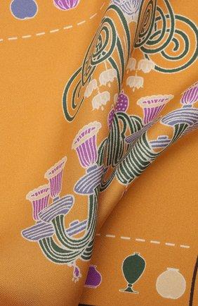 Мужской шелковый платок ETON оранжевого цвета, арт. A000 32950   Фото 2 (Материал: Шелк, Текстиль)