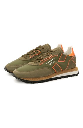 Мужские комбинированные кроссовки GHOUD хаки цвета, арт. E11ERSLMNS02 | Фото 1