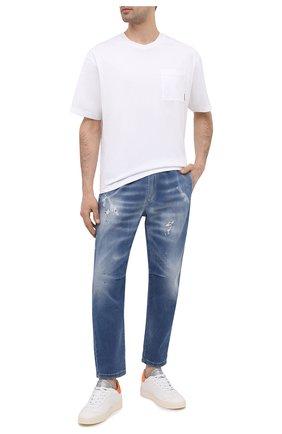 Мужские кожаные кеды GHOUD белого цвета, арт. E11EL1LMGL28 | Фото 2