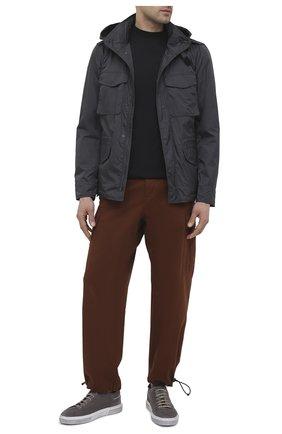 Мужские замшевые кеды MOMA темно-серого цвета, арт. 4AS106-T0   Фото 2