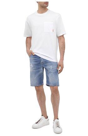 Мужские кожаные кеды MOMA белого цвета, арт. 4AS106-B0   Фото 2