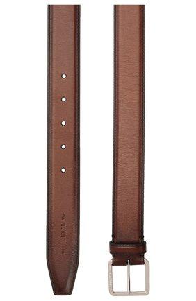 Мужской кожаный ремень BERLUTI коричневого цвета, арт. C0073-002 | Фото 2