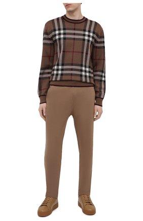 Мужские кожаные кеды BOTTEGA VENETA коричневого цвета, арт. 651427/V00T0 | Фото 2 (Материал внутренний: Текстиль, Натуральная кожа; Подошва: Массивная)