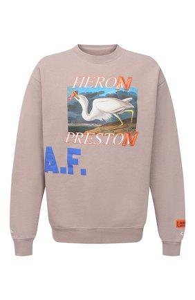 Мужской хлопковый свитшот HERON PRESTON бежево-серого цвета, арт. HMBA014R21JER0036145   Фото 1