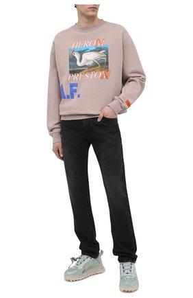 Мужской хлопковый свитшот HERON PRESTON бежево-серого цвета, арт. HMBA014R21JER0036145   Фото 2