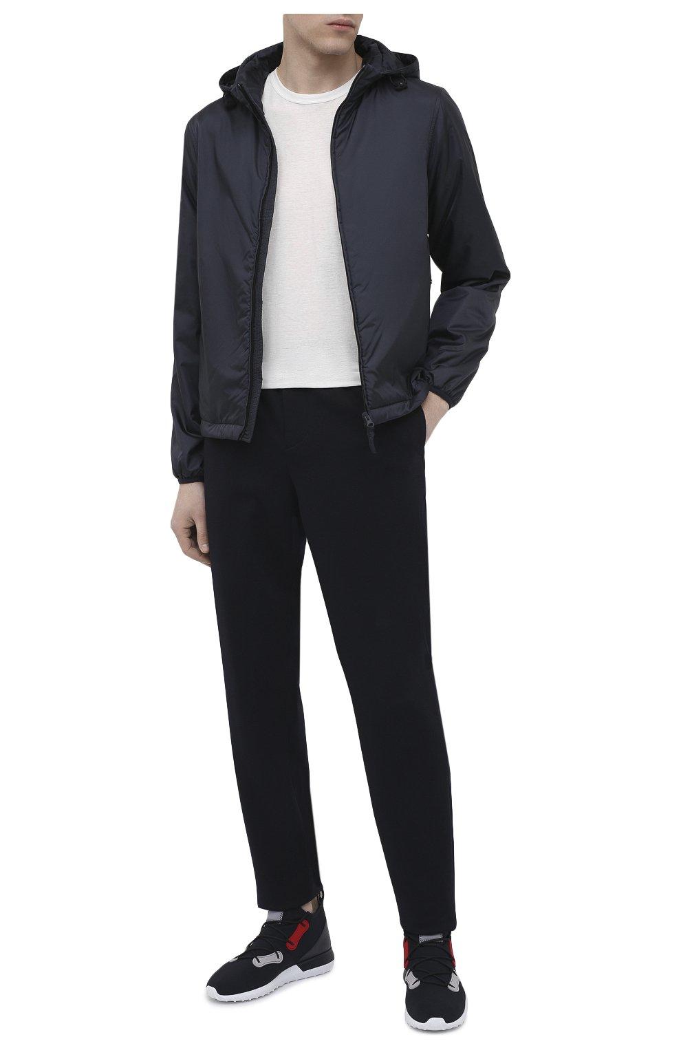 Мужская утепленная куртка ASPESI синего цвета, арт. S1 I I001 7961 | Фото 2 (Кросс-КТ: Куртка; Рукава: Длинные; Материал внешний: Синтетический материал; Мужское Кросс-КТ: утепленные куртки; Материал подклада: Синтетический материал; Длина (верхняя одежда): Короткие; Стили: Кэжуэл)