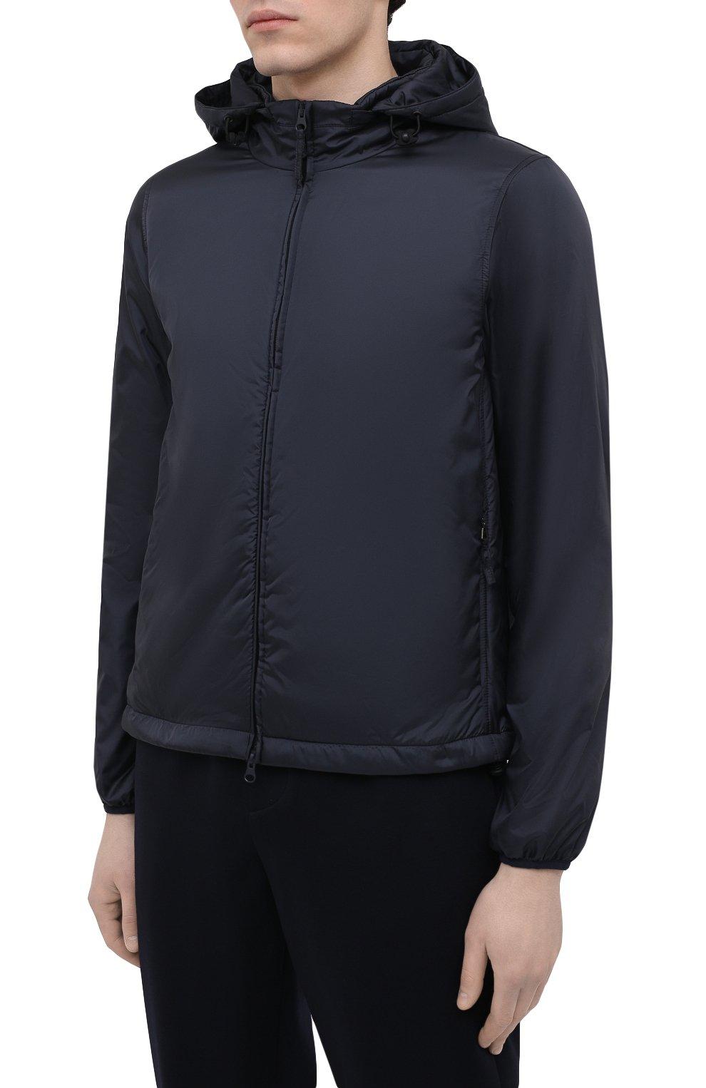 Мужская утепленная куртка ASPESI синего цвета, арт. S1 I I001 7961 | Фото 3 (Кросс-КТ: Куртка; Рукава: Длинные; Материал внешний: Синтетический материал; Мужское Кросс-КТ: утепленные куртки; Материал подклада: Синтетический материал; Длина (верхняя одежда): Короткие; Стили: Кэжуэл)
