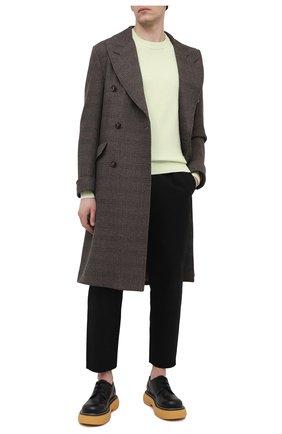 Мужской пальто из шерсти и кашемира LORO PIANA коричневого цвета, арт. FAL4290   Фото 2 (Длина (верхняя одежда): До колена; Материал внешний: Шерсть, Кашемир; Мужское Кросс-КТ: пальто-верхняя одежда; Стили: Кэжуэл; Материал подклада: Синтетический материал; Рукава: Длинные)