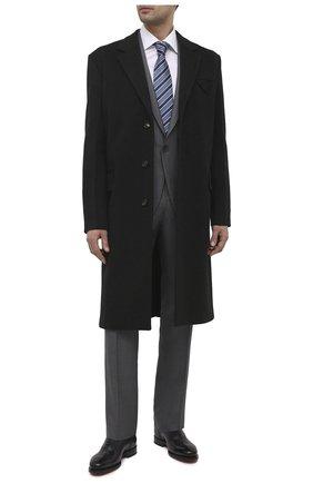 Мужские кожаные оксфорды SANTONI темно-синего цвета, арт. MCPH17555RB2IVVDU59 | Фото 2 (Материал внутренний: Натуральная кожа; Мужское Кросс-КТ: Броги-обувь; Стили: Классический)