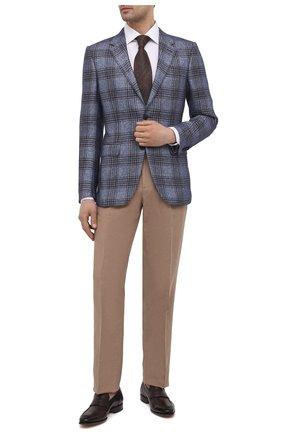 Мужские кожаные пенни-лоферы SANTONI темно-коричневого цвета, арт. MCLE17515LA1ESLQT50 | Фото 2 (Материал внутренний: Натуральная кожа; Стили: Классический)