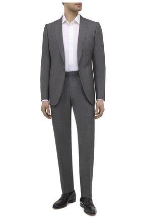 Мужские кожаные пенни-лоферы SANTONI черного цвета, арт. MCLE17515LA1ESLQN51 | Фото 2 (Материал внутренний: Натуральная кожа; Стили: Классический)