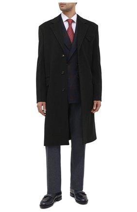 Мужские кожаные монки SANTONI темно-синего цвета, арт. MCC016036MC3HNGWU60 | Фото 2 (Материал внутренний: Натуральная кожа; Стили: Классический)