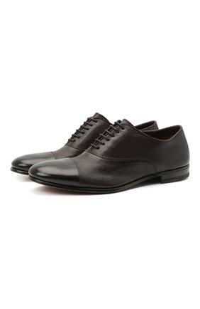 Мужские кожаные оксфорды H`D`S`N BARACCO темно-коричневого цвета, арт. 71301.C.1*   Фото 1