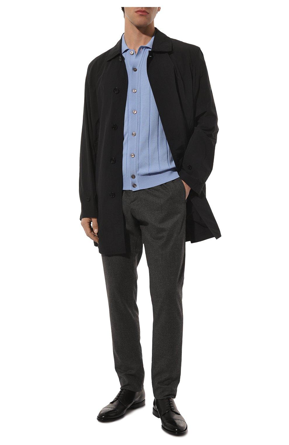 Мужские кожаные дерби H`D`S`N BARACCO черного цвета, арт. 71201.P.1*   Фото 2 (Мужское Кросс-КТ: Броги-обувь; Материал внутренний: Натуральная кожа; Стили: Классический)