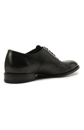 Мужские кожаные дерби H`D`S`N BARACCO черного цвета, арт. 71201.P.1*   Фото 5 (Мужское Кросс-КТ: Броги-обувь; Материал внутренний: Натуральная кожа; Стили: Классический)