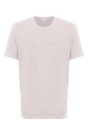 Мужская хлопковая футболка JAMES PERSE светло-бежевого цвета, арт. MLJ3311   Фото 1