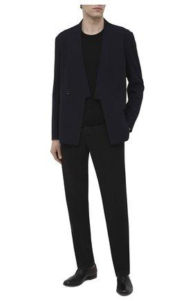 Мужские кожаные оксфорды PANTANETTI черного цвета, арт. 14491E/LEGACY   Фото 2