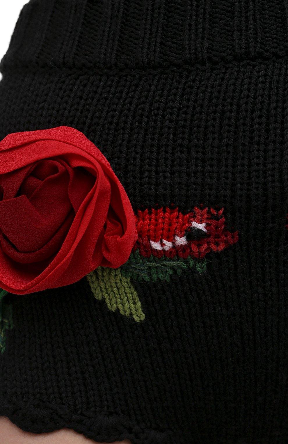 Женские шерстяные шорты DOLCE & GABBANA черного цвета, арт. FX222Z/JAV54 | Фото 5 (Женское Кросс-КТ: Шорты-одежда; Материал внешний: Шерсть; Стили: Гламурный; Длина Ж (юбки, платья, шорты): Мини)