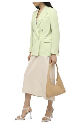 Женские кожаные босоножки novio JACQUEMUS белого цвета, арт. 211F011/401100 | Фото 2