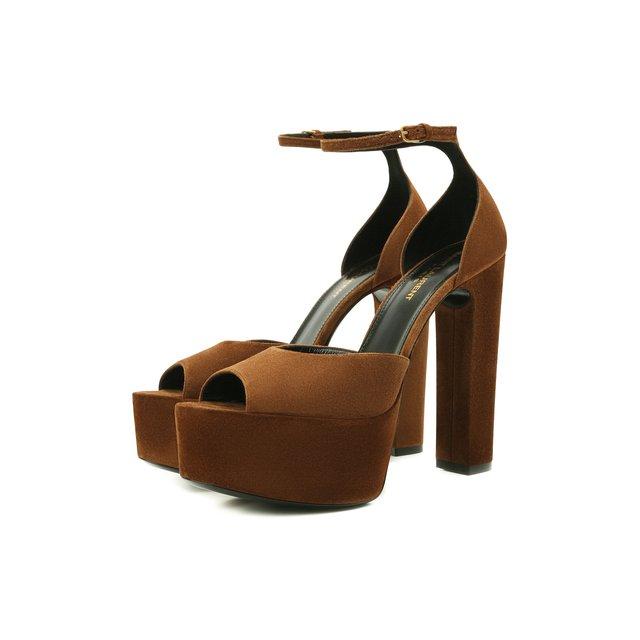 Замшевые босоножки Jodie Saint Laurent