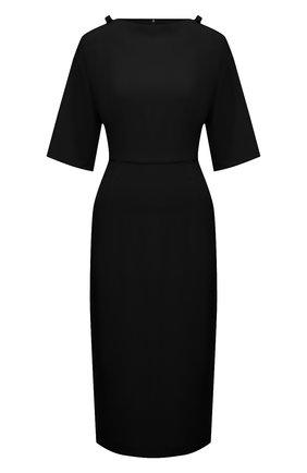 Женское платье VALENTINO черного цвета, арт. VB3VAV9565C   Фото 1