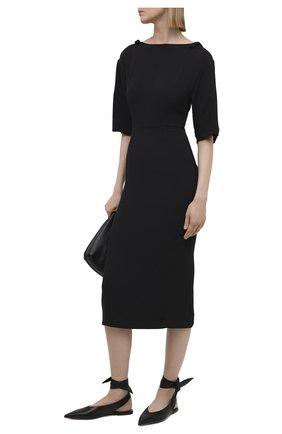 Женское платье VALENTINO черного цвета, арт. VB3VAV9565C   Фото 2