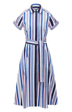 Женское хлопковое платье LORO PIANA синего цвета, арт. FAL7088 | Фото 1