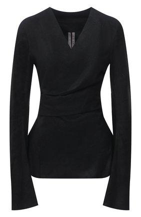 Женский замшевый жакет RICK OWENS черного цвета, арт. RP21S3713/LBAB | Фото 1