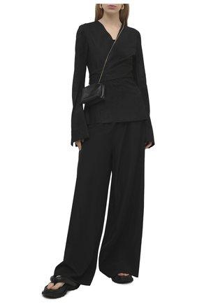 Женский замшевый жакет RICK OWENS черного цвета, арт. RP21S3713/LBAB | Фото 2