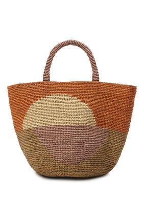 Женская сумка kapity bloc medium SANS-ARCIDET оранжевого цвета, арт. KAPITY BL0C BAG/M   Фото 1
