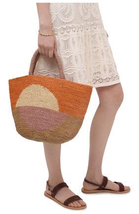 Женская сумка kapity bloc medium SANS-ARCIDET оранжевого цвета, арт. KAPITY BL0C BAG/M   Фото 2